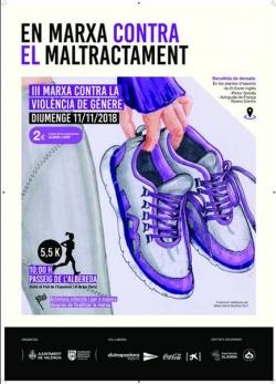 El deporte valenciano se une contra la violencia de género con la III Marxa contra el Maltractament